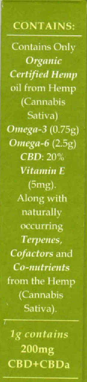 Endoca RAW Hemp Oil (2000mg) CBD+CBDa (20%)