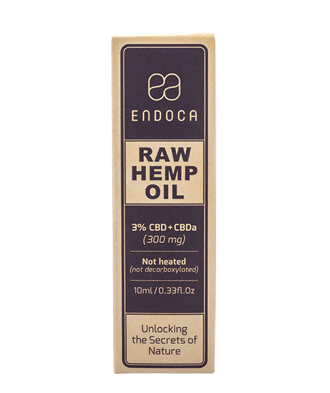 Endoca RAW Hemp Oil Drops 300mg box