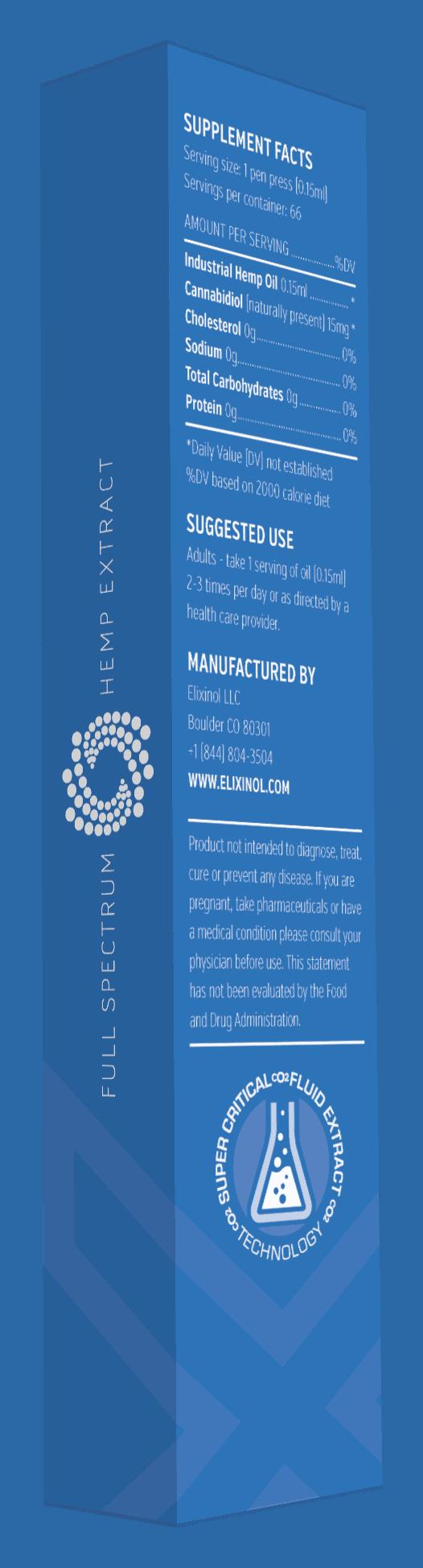 Elixinol CBD Oil X-Pen Label