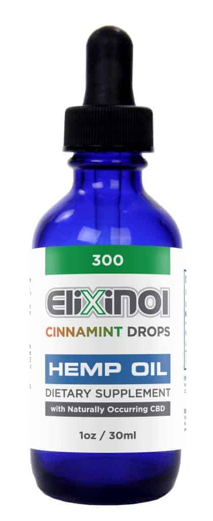 Elixinol Hemp Oil Drops Cinnamint (300mg) | CBD Oil Review