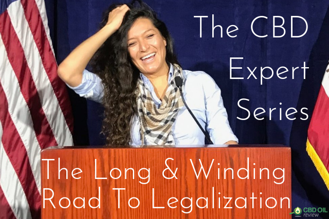 header image for expert series interview with cannabis lawyer and consultant Sapphire Blackwood