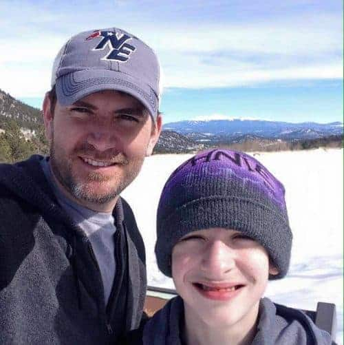 picture of Coltyn Turner and his dad in the snow