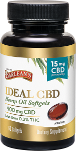 Ideal CBD Softgels 60ct FG-10191 LA-00037-00 bottle 72dpi web
