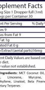 Real Terpenes – Hybrid CBD Tincture 2