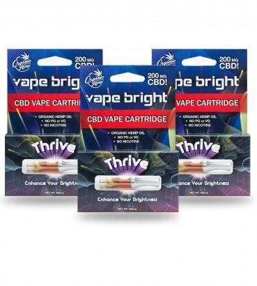 Vape Bright 3 Pack - Thrive CBD Vape Cartridge - 600mg