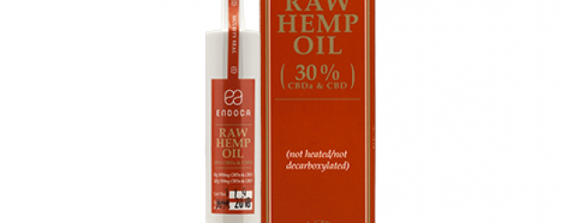 Endoca RAW Golden Hemp Oil (3000mg) CBD+CBDa (30%)
