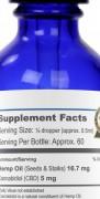 Elixinol CBD Drops Natural Label